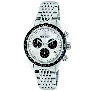 Dreyfuss & Co white dial stainless steel bracelet watch - Product number 8357137