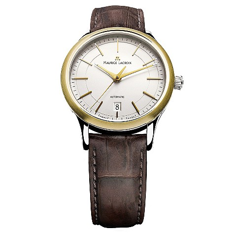 Maurice Lacroix silver dial strap watch