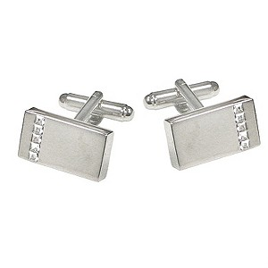 Chrome Crystal Cufflinks - Product number 8357749