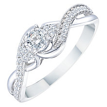 9ct White Gold 0.25ct Solitare Twist Diamond Ring - Product number 8358125