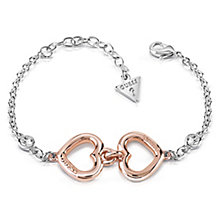 Guess Two Tone Two Hearts Crystal Bracelet - Product number 8359660