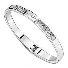 Guess Rhodium Plated Crystal Clear Bangle - Product number 8360111