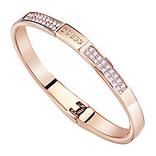 Guess Rose Gold Plated Aurora Crystal Bangle - Product number 8360146