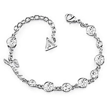 Guess Rhodium Plated Multi Crystal Bracelet - Product number 8360162