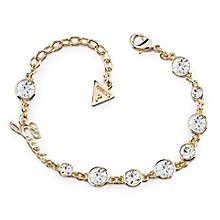 Guess Gold Plated Multi Crystal Bracelet - Product number 8360170