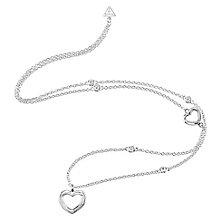 Guess Rhodium Plated Long Multi Heart Necklace - Product number 8360359