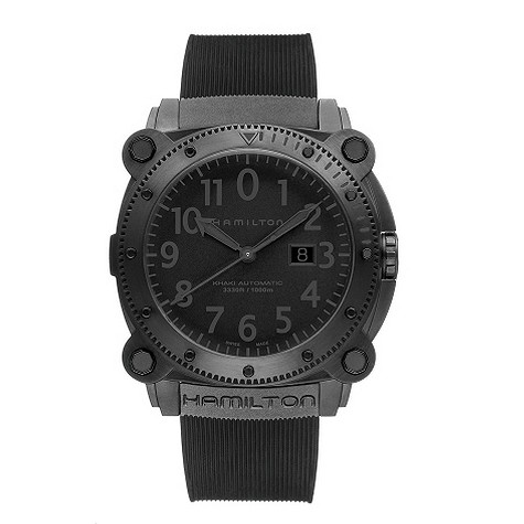 Hamilton black strap watch