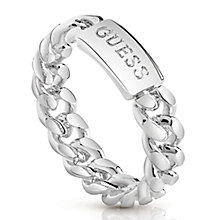 Guess Rhodium Plated Curb Chain Ring - Product number 8360731