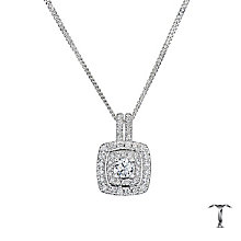 Tolkowsky 18ct White Gold 0.50ct Halo Diamond Pendant - Product number 8361843