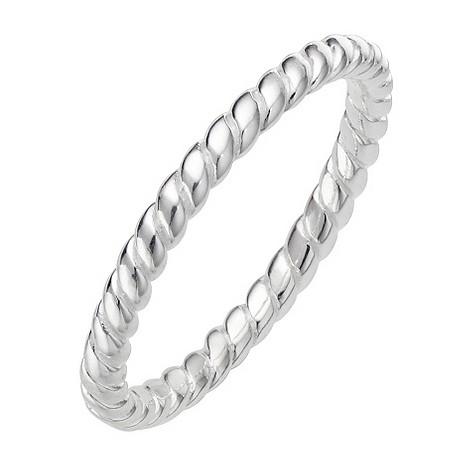 Daisy Damask sterling silver stacker ring Size L