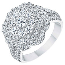18ct White Gold 1.50ct Diamond Flower Cluster Ring - Product number 8363528