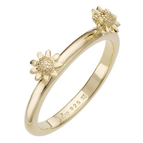 Daisy Sigma sterling silver gold-plated ring Size L