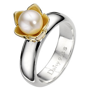 Daisy Star Wars cultured freshwater pearl ring  Size N - Product number 8363986