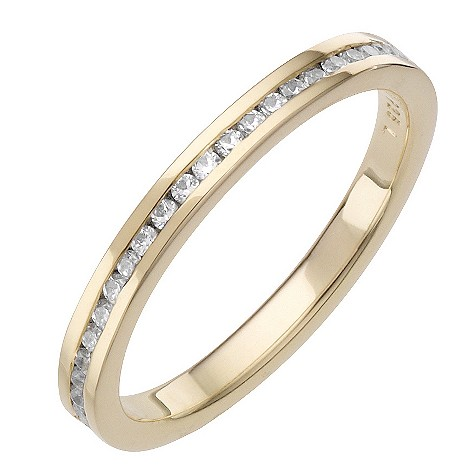 Daisy Ginger sterling silver gold-plated cz ring Size P