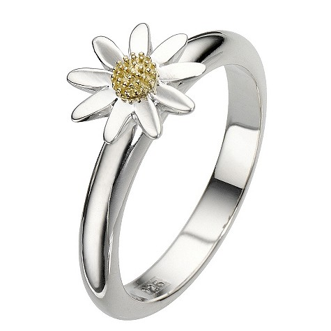 Daisy Kappa sterling silver gold-plated ring Size N