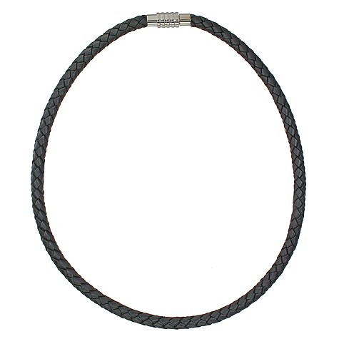 Spartan Jupiter black leather necklace 50cm