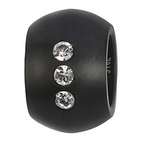 Spartan Shield black coloured & crystal bead - Product number 8365741