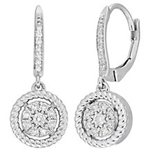 Neil Lane Sterling Silver 0.25ct Diamond Cluster Earrings - Product number 8367272