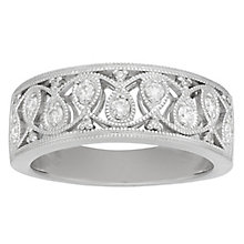 Neil Lane Sterling Silver 0.20ct Vintage Diamond Ring - Product number 8367310