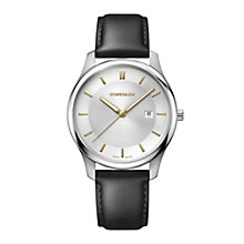 Wenger City Classic Men's Black Leather Strap Watch - Product number 8368015