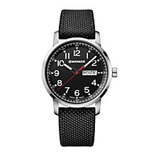 Wenger Attitude Men's Black Fabric Strap Watch - Product number 8368155