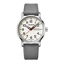 Wenger Attitude Men's Grey Fabric Strap Watch - Product number 8368163