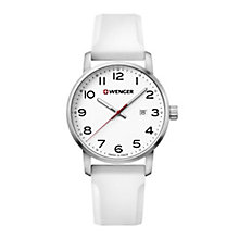 Wenger Avenue Men's White Silicone Strap Watch - Product number 8368244