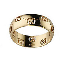 Gucci Icon 18ct yellow gold slim GG ring - size P - Product number 8372497