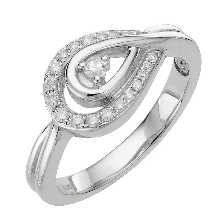 Love's Embrace sterling silver diamond icon ring - Product number 8372950