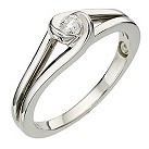 Love's Embrace 9ct white gold diamond twist ring - Product number 8373086
