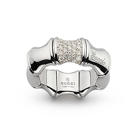 Gucci 18ct white gold diamond ring