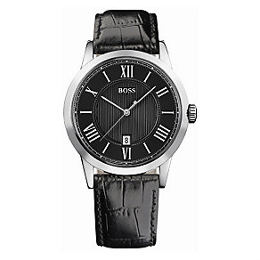 Hugo Boss men's black round dial and strap watch - Product number 8376638