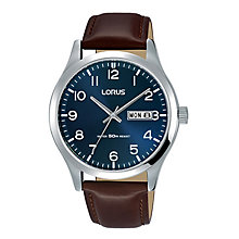 Lorus Men's Brown Leather Strap Watch - Product number 8376794