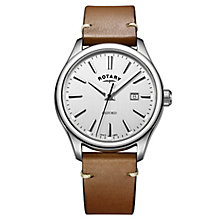 Rotary Men's Brown Leather Strap Watch - Product number 8376859