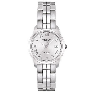 Tissot ladies' silver dial stainless steel bracelet watch - Product number 8377723