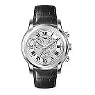 Rotary men's chronograph black leather strap watch - Product number 8379947