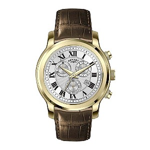 Rotary exclusive men's brown strap watch - Product number 8379963