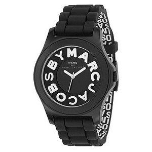 Marc by Marc Jacobs ladies' black strap big logo watch - Product number 8380023
