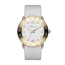 Marc Jacobs ladies' gold plated white strap watch - Product number 8380589