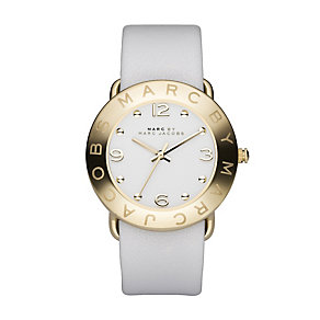 Marc by Marc Jacobs ladies' gold plated white strap watch - Product number 8380589