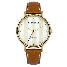 Fiorelli Ladies' Tan Leather Strap Watch - Product number 8389608