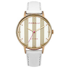 Fiorelli Ladies' White Leather Strap Watch - Product number 8389616