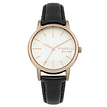 Fiorelli Ladies' Black Leather Strap Watch - Product number 8389667