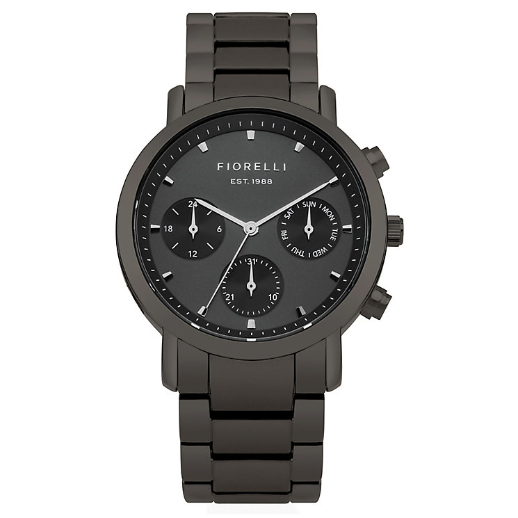 Fiorelli Ladies' Grey Alloy Bracelet Watch - Product number 8389705