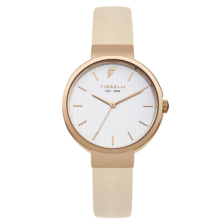 Fiorelli Ladies' Cream PU Strap Watch - Product number 8389764