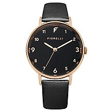 Fiorelli Ladies' Black PU Strap Watch - Product number 8389802