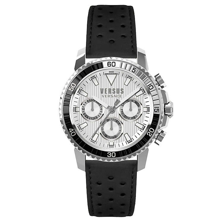 Versus Versace Men's Black Leather Strap Watch - Product number 8391165