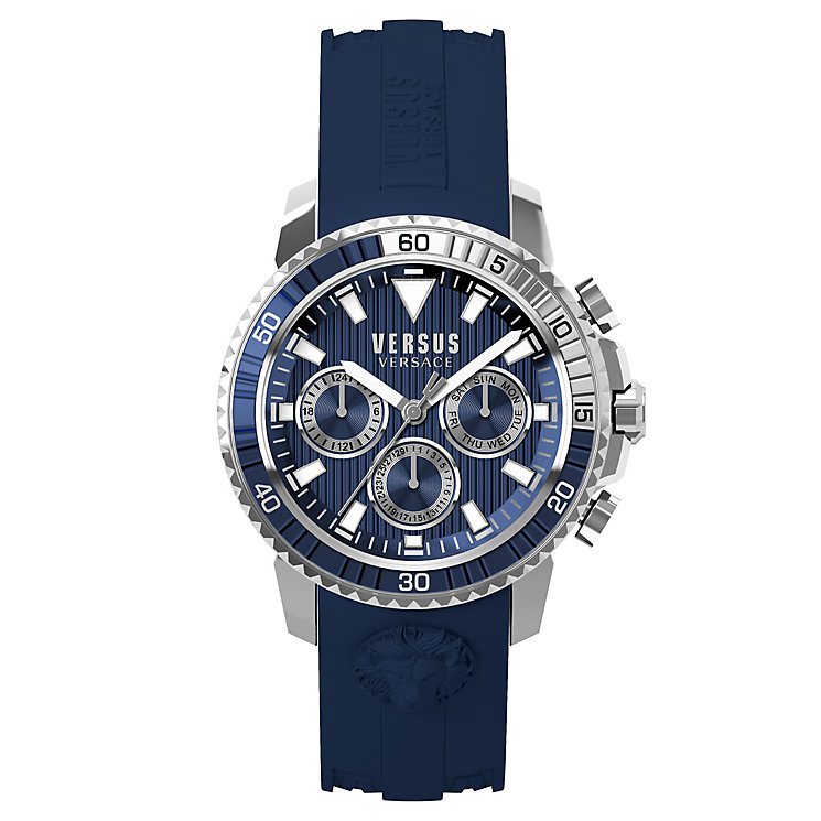 Versus Versace Men's Blue Silicone Strap Watch - Product number 8391181