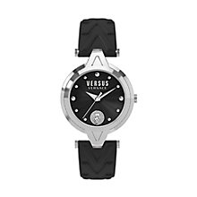 Versus Versace Ladies' Black Leather Strap Watch - Product number 8391335