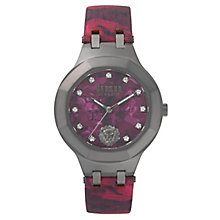Versus Versace Ladies' Red Leather Strap Watch - Product number 8391556
